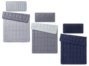 MERADISO® Betten-Set, 155 x 200 cm, mit Steppbett, Kissen, mit Mikrofaserbezug