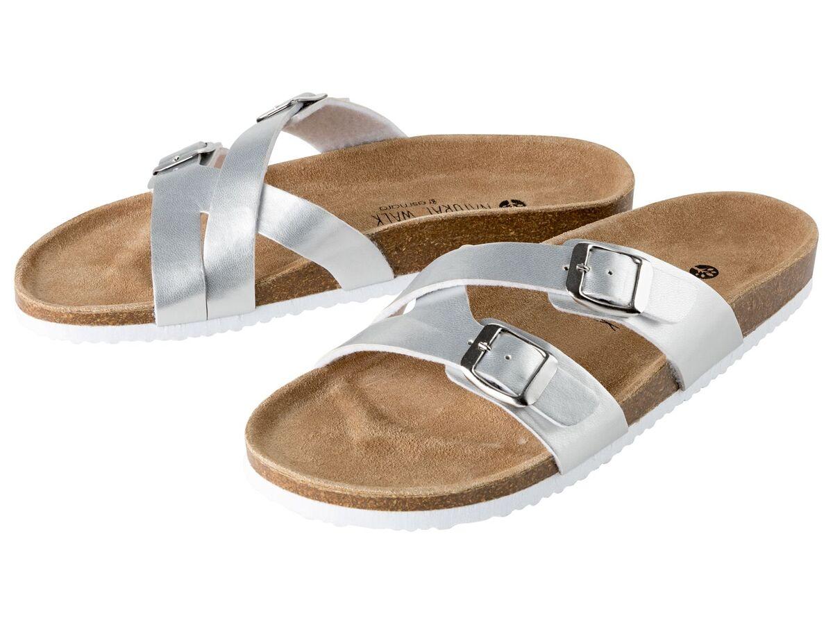 Bild 2 von ESMARA® Pantoletten Damen, mit anatomisch geformtem Fußbett, Lederdecksohle