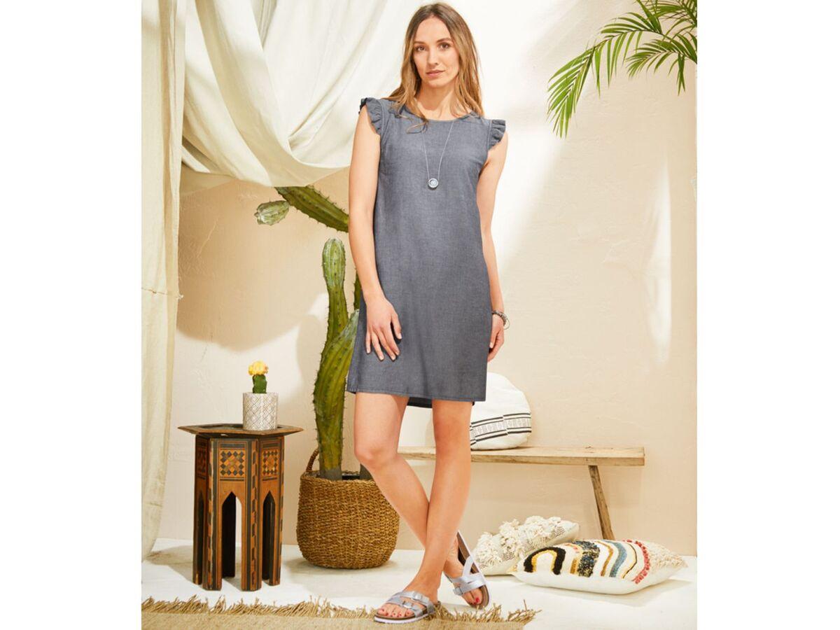 Bild 3 von ESMARA® Pantoletten Damen, mit anatomisch geformtem Fußbett, Lederdecksohle