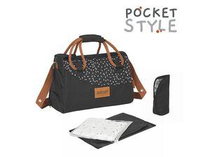 Badabulle Wickeltasche »Pocketstyle«, ultraleicht, großes Fassungsvermögen, viel Zubehör