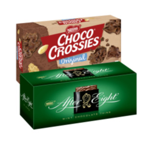 Choco Crossies, Choclait Chips oder After Eight