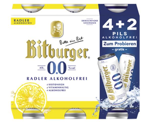 Bitburger®  0,0 % Alkoholfrei 4+2 Pack