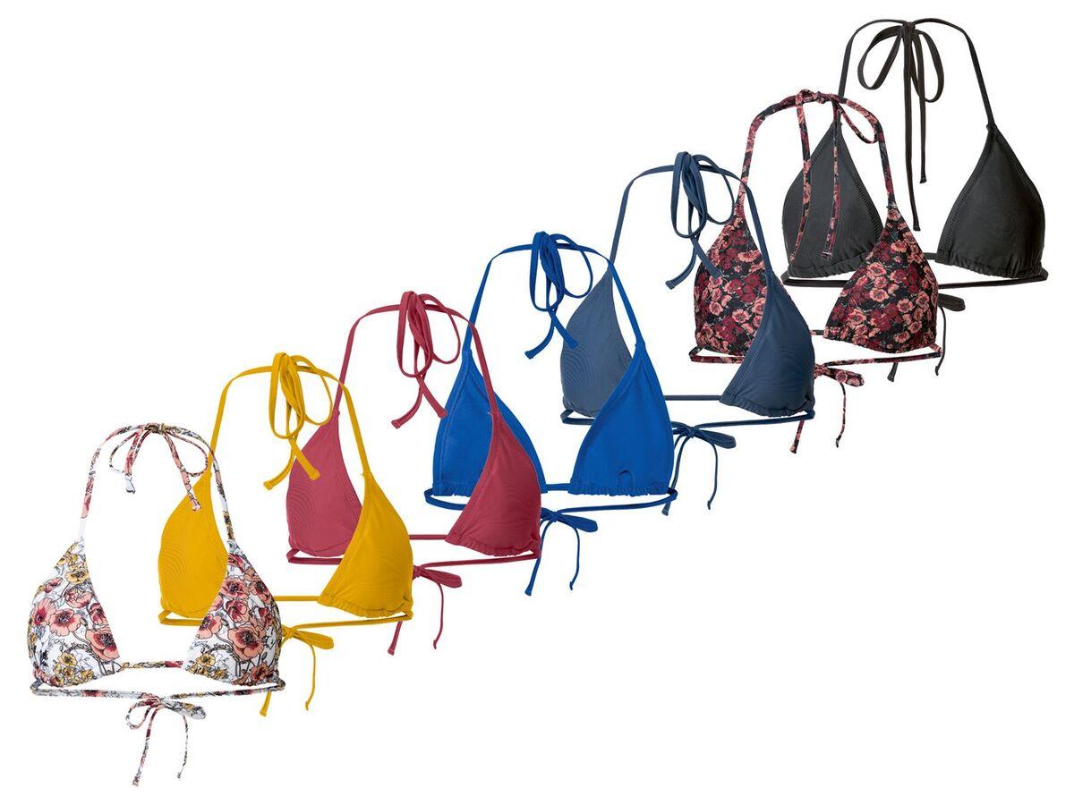 Bild 1 von ESMARA® Bikinioberteil Damen, mit herausnehmbaren Cups, Träger zum Binden, mit Elasthan