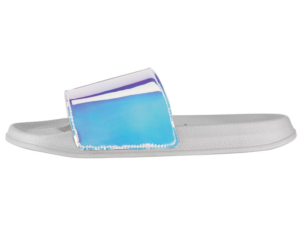 Bild 4 von ESMARA® Badepantoletten Damen, mit breiter Bandage, flexible Laufsohle, Textilfutter