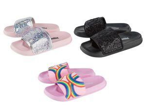 PEPPERTS® Kinder Badepantoletten Mädchen, mit breiter Bandage, flexible Laufsohle