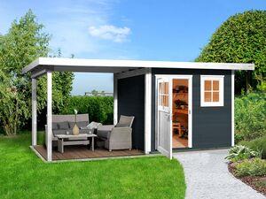 Weka Holz-Gartenhaus »Jana«, mit oder ohne Anbaudach, in anthrazit, natur oder schwedenrot