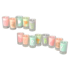 13 Kerzen im Glas mit Happy Birthday
