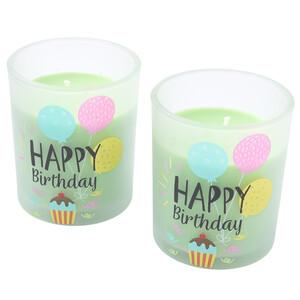 2 Geburtstagskerzen im Glas