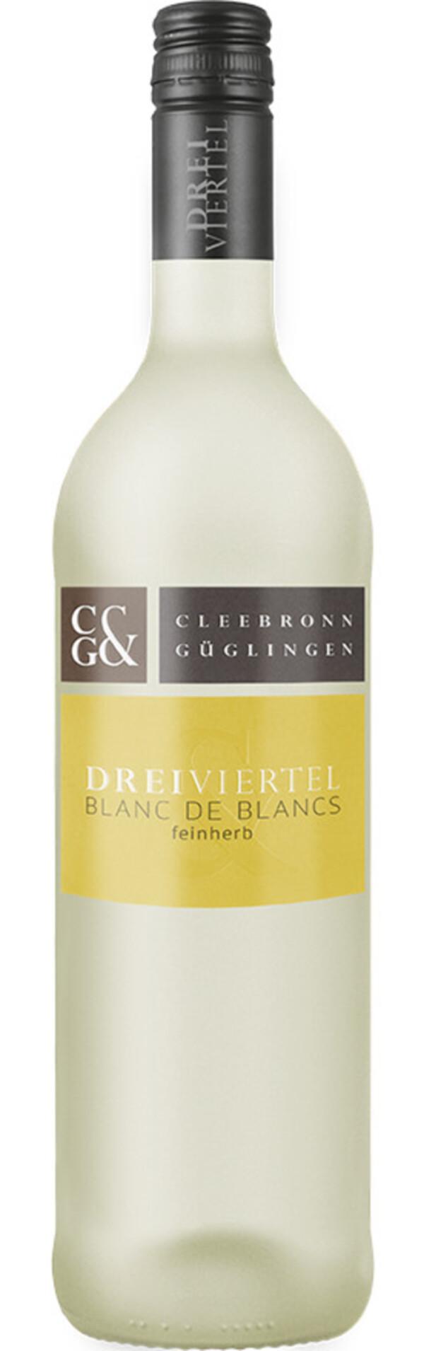 Cleebronn Güglingen Blanc de Blancs feinherb 2018 0,75 ltr