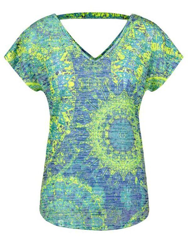 Damen T-Shirt mit Rückenausschnitt