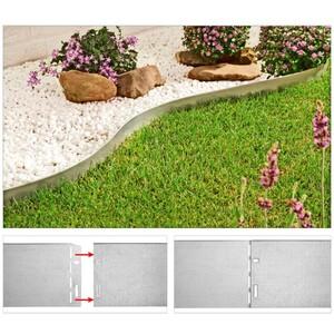 Rasenkantenprofile verzinkter Stahl 4er Set
