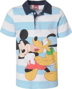 Disney Mickey Mouse & friends Poloshirt  türkis/weiß Gr. 128/134 Jungen Kinder