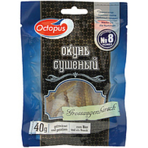 Snack aus Großaugenbarsch (Priacanthus macracanthus ) getroc...