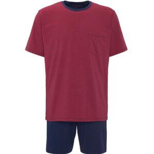 Seidensticker Schlafanzug, kurz, Kurzarm, geringelt, für Herren