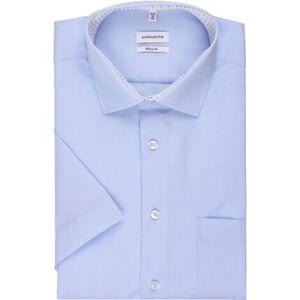Seidensticker Businesshemd, Kurzarm, Kent, Regular Fit, bügelfrei, Kontrast, für Herren