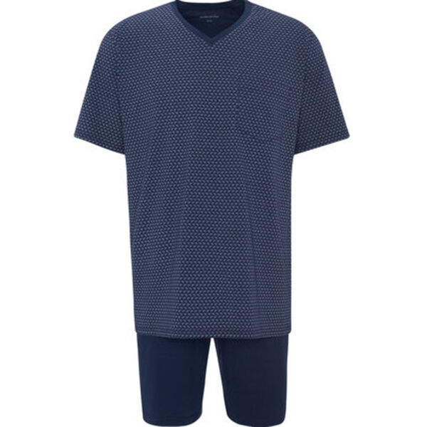Seidensticker Schlafanzug, kurz, Kurzarm, gemustert, für Herren