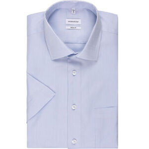 Seidensticker Businesshemd, Kurzarm, Kent, Regular Fit, bügelfrei, meliert, für Herren