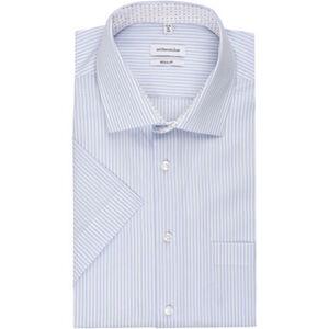 Seidensticker Businesshemd, Kurzarm, Kent, Regular Fit, bügelfrei, Streifen, für Herren