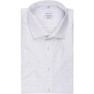 Seidensticker Businesshemd, Kurzarm, Kent, Regular Fit, bügelfrei, gemustert, für Herren