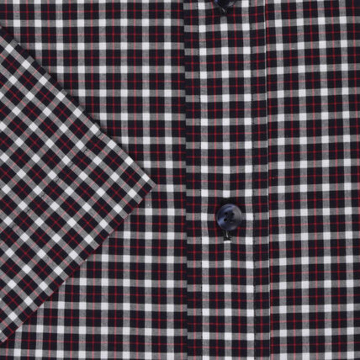 Bild 3 von Seidensticker Businesshemd, Kurzarm, Button-Down, Regular Fit, bügelfrei, kariert, für Herren