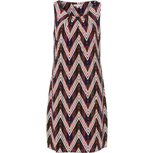 Adagio Kleid, Kellerfalten, Zick-Zack-Muster, für Damen