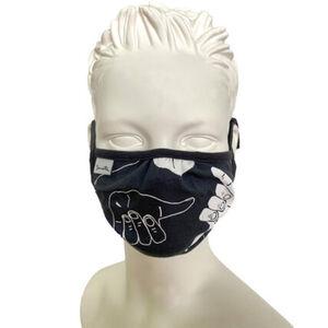 """Sanetta Mund-Nasen-Maske """"Hang Loose"""", 2er-Pack, Print, längenverstellbare Bänder, für Jungen"""
