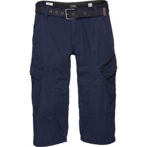 S.Oliver Cargo-Shorts, Loose Fit, Blasebalgtaschen, Stoffgürtel, für Herren