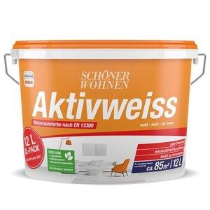Schöner Wohnen Innenwandfarbe Aktivweiss konservierungsmittelfrei matt 12 Liter
