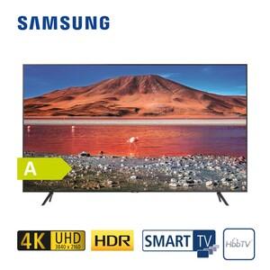 """GU65TU7179 • 2 x HDMI, USB, CI+ • integr. Kabel-, Sat und DVB-T2-Receiver • Maße: H 83 x B 144,8 x T 6 cm • Energie-Effizienz A+ (Spektrum A+++ bis D), Bildschirmdiagonale: 65""""/163 cm"""