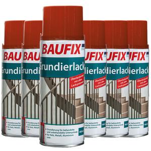 Baufix Grundierlack, Rotbraun - 6-er Set