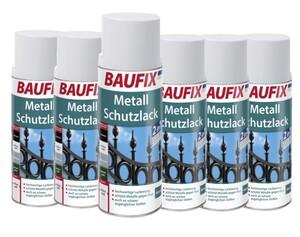 Baufix Metallschutzlack - Brilliantweiß 6-er Set