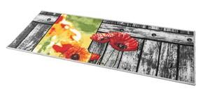 Bella Casa Bedruckter Motiv-Teppichläufer, ca. 50 x 140 cm - Vintage Brett/Margeriten