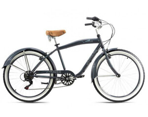 KS Cycling Beachcruiser Herrenfahrrad Cruizer 26 Zoll grau