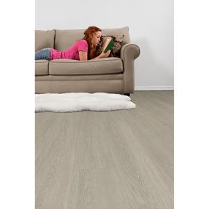Vinylboden 'Carson Oak' grau 122 x 18 cm