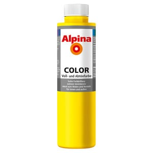 Alpina Color Voll- und Abtönfarbe 'Sunny Yellow' seidenmatt 750 ml