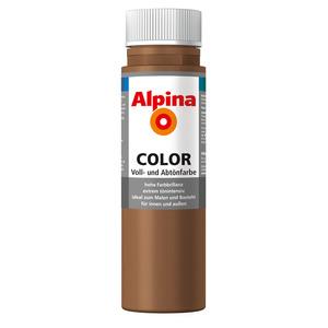 Alpina Color Voll- und Abtönfarbe 'Candy Brown' seidenmatt 250 ml