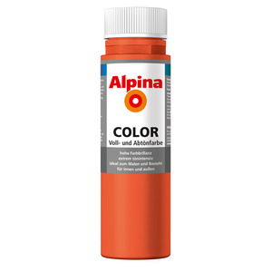 Alpina Color Voll- und Abtönfarbe 'Happy Orange' seidenmatt 250 ml