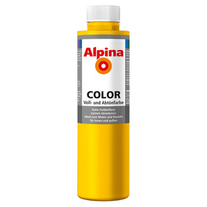 Alpina Color Voll- und Abtönfarbe 'Lucky Yellow' seidenmatt 750 ml