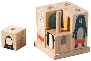 IDEENWELT Holz-Bilderwürfel