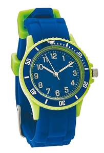 IDEENWELT Kinderarmbanduhr, blau grün