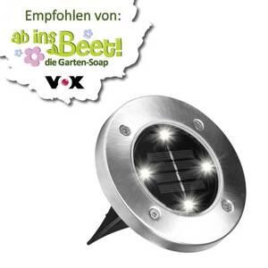 """Multifunktions LED Solarleuchten  """"Disk Lights"""" 4 Stück im Set"""