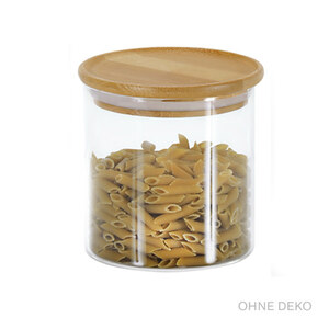 Kesper Aufbewahrungsglas Bambus mit Deckel 500 ml