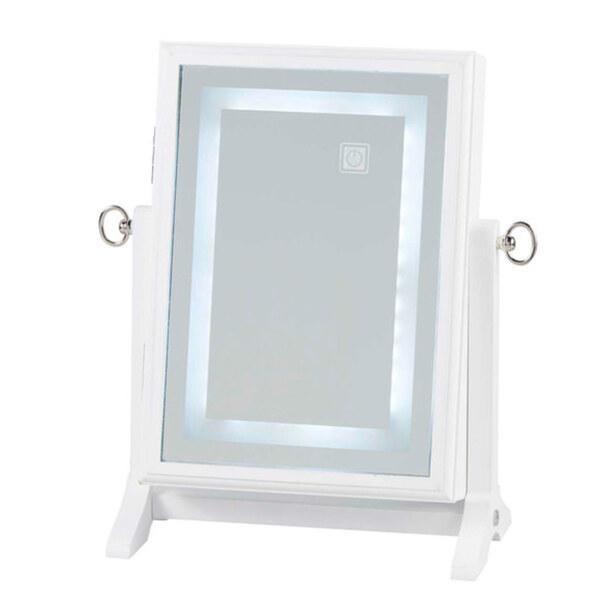 LED-Tischspiegel mit Schmuckkästchen 24 LEDs 26 x 16 x 36 cm