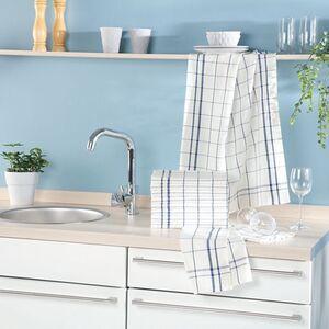 Dekor Geschirrtücher, 10er Pack - blau Karo