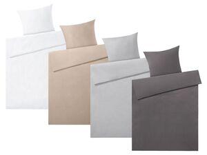 MERADISO® Satin Bettwäsche, 155 x 200 cm, mit Reißverschluss, aus reiner Bio-Baumwolle