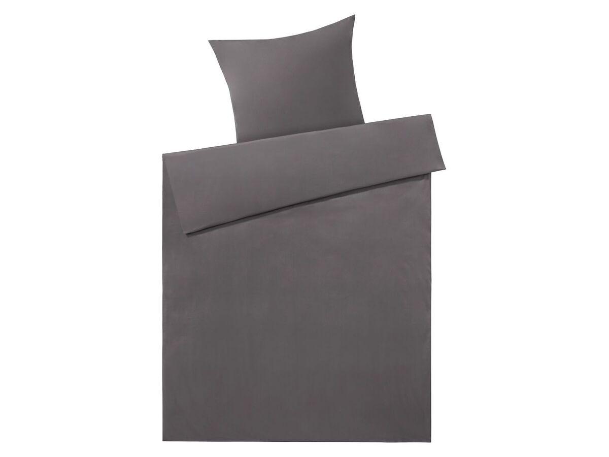 Bild 2 von MERADISO® Satin Bettwäsche, 155 x 200 cm, mit Reißverschluss, aus reiner Bio-Baumwolle