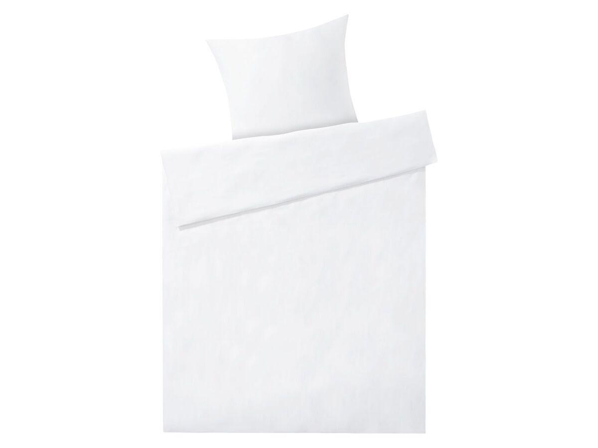 Bild 3 von MERADISO® Satin Bettwäsche, 155 x 200 cm, mit Reißverschluss, aus reiner Bio-Baumwolle