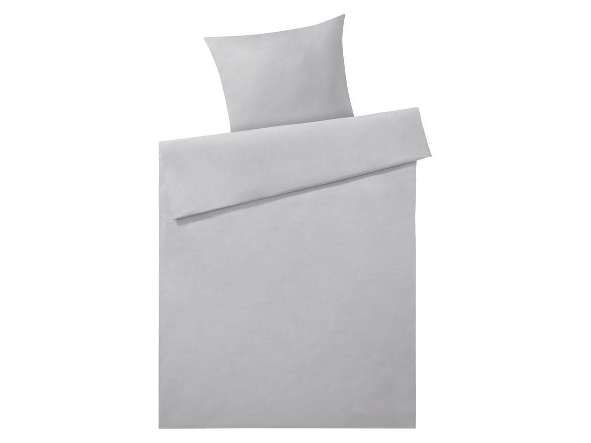 Bild 5 von MERADISO® Satin Bettwäsche, 155 x 200 cm, mit Reißverschluss, aus reiner Bio-Baumwolle