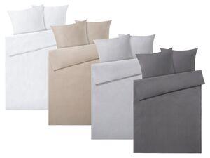 MERADISO® Satin Bettwäsche, 200 x 200 cm, mit Reißverschluss, aus reiner Bio-Baumwolle