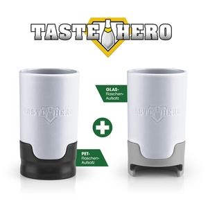 Taste Hero Flaschenaufsatz-Set für PET- und Glasflaschen spülmaschinengeeignet weiß 3-teilig